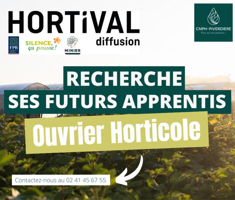 HORTIVAL DIFFUSION apprentissage production horticole cnph piverdiere
